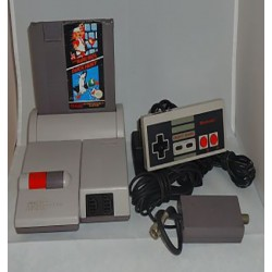 NINTENDO NES TOP LOADER + 1 CONTROL + TRANSFORMADOR + SUPER MARIO 1, 2 Y 3