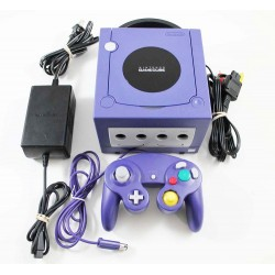 NINTENDO GAMECUBE PURPLE + 1 CONTROL + TRANSFORMADOR