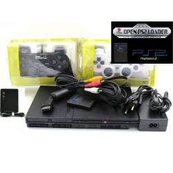 Playstation 2 + 2 Controles + OPL + Disco De 500gb Con Juegos