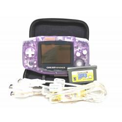 Game Boy Advance Gba Original + Juego, Cable Link Y Bolso