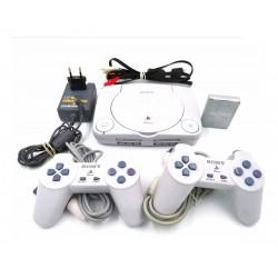 Consola Playstation One + 2 Controles + 3 Juegos De Regalo