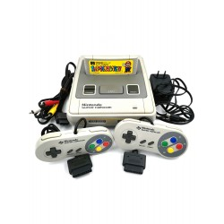 NINTENDO SNES FAT + 2 CONTROLES + TRANSFORMADOR + SUPER MARIO WORLD