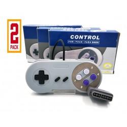 Pack 2 Controles Super Nintendo SNES Y Super Famicom Alternativos